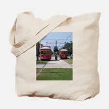 Red Streetcar Tote Bag