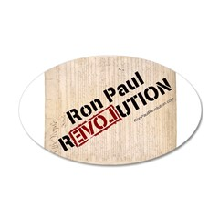 Ron Paul Constitution 38.5 x 24.5 Oval Wall Peel