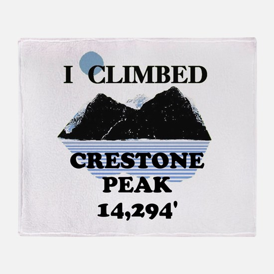 I Climbed Crestone Peak Throw Blanket