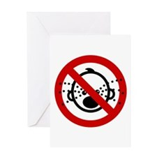 Funny NO Cry Babies Sign Greeting Card