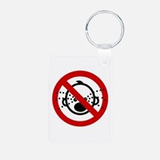 Funny NO Cry Babies Sign Keychains
