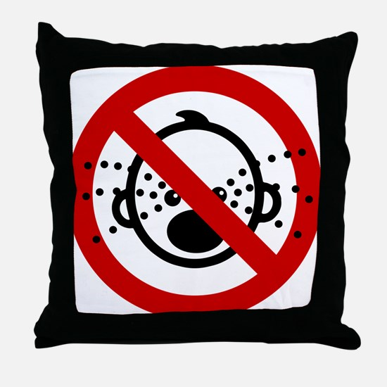 Funny NO Cry Babies Sign Throw Pillow