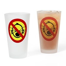 Funny NO Cry Babies Sign Drinking Glass