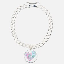 Cute Multiple sclerosis Charm Bracelet, One Charm