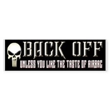 Back Off Bumper Sticker