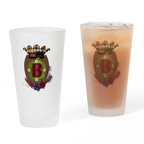 Royal B Crest Drinking Glass