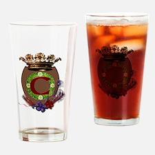 C Crest Drinking Glass