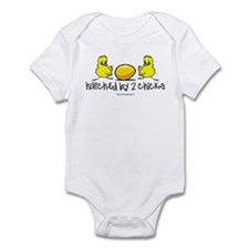 Hatched by 2 chicks Infant Bodysuit