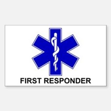 BSL - FIRST RESPONDER Sticker (Rectangle 10 pk)