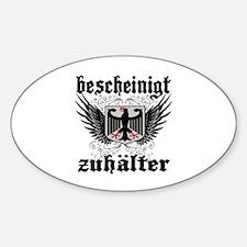 Deutschland -- T-Shirt Sticker (Oval)
