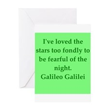 Galileo quotes Greeting Card