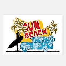 sun beach Postcards (Package of 8)