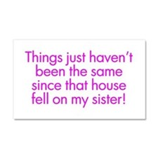 Cute Siblings Car Magnet 20 x 12