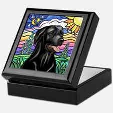 Country (L1) - Black Lab Keepsake Box