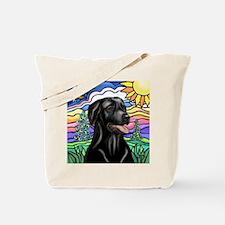Country (L1) - Black Lab Tote Bag