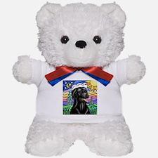 Country (L1) - Black Lab Teddy Bear