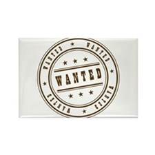 Wanted Rectangle Magnet