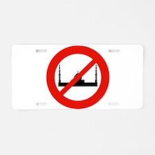 JUST SAY NO Aluminum License Plate