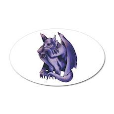 Gargoyle Tattoo 22x14 Oval Wall Peel