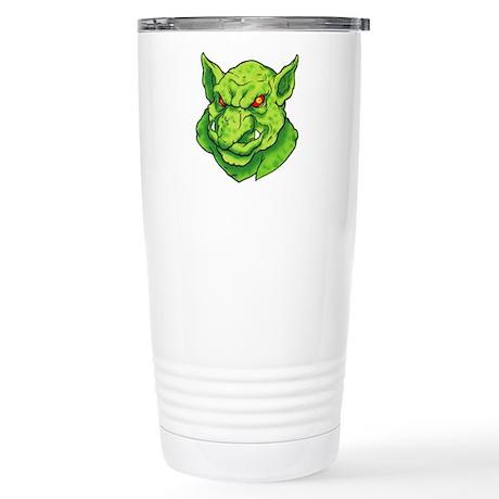 Green Gargoyle Tattoo Stainless Steel Travel Mug