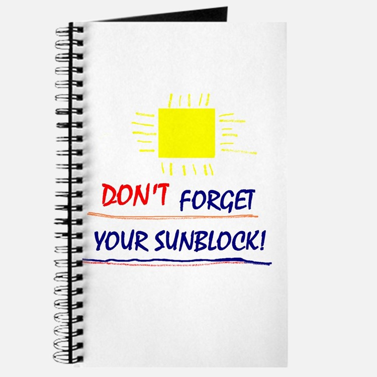 Sunblock Reminder Journal