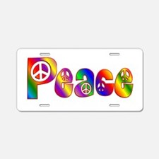 PEACE Aluminum License Plate