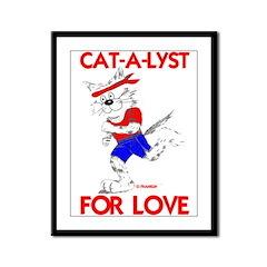 CAT-A-LYST FOR LOVE Framed Panel Print