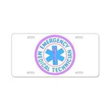EMT Logo Pastel Aluminum License Plate