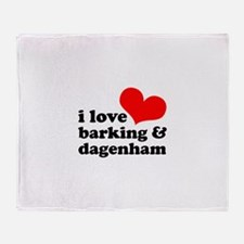 i love barking & dagenham Throw Blanket