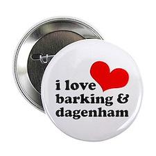 "i love barking & dagenham 2.25"" Button"