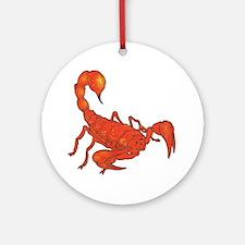 Scorpion Tattoo Ornament (Round)