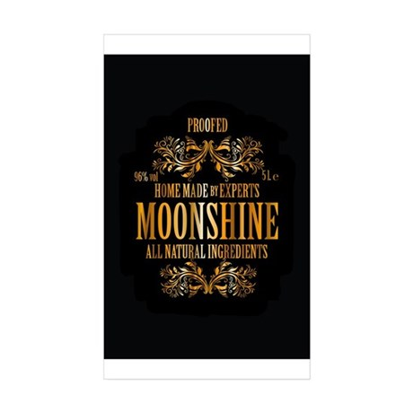 Moonshine label Sticker (Rectangle 10 pk)