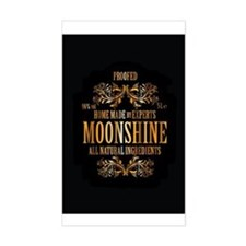 Moonshine label Decal