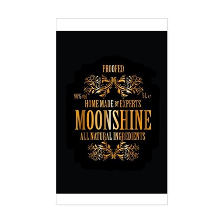 Moonshine label Sticker (Rectangle) by robinlund