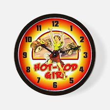 Hot Rod Girl Wall Clock