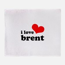 i love brent Throw Blanket