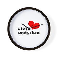 i love croydon Wall Clock