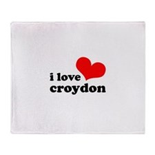 i love croydon Throw Blanket