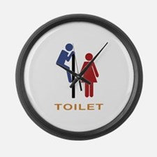 Toilet Large Wall Clock