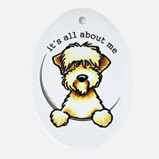 Funny Wheaten Terrier Ornament (Oval)