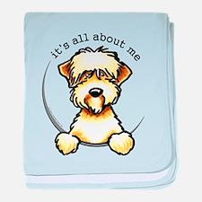 Funny Wheaten Terrier baby blanket