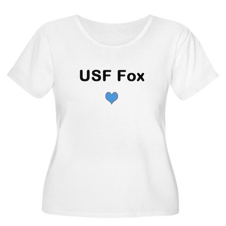 USF Fox Heart Plus Size T-Shirt
