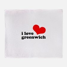 i love greenwich Throw Blanket
