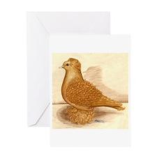 Yellow Frillback Pigeon Greeting Card
