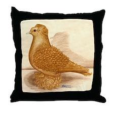 Yellow Frillback Pigeon Throw Pillow