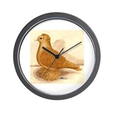 Yellow Frillback Pigeon Wall Clock