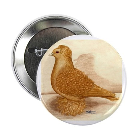 """Yellow Frillback Pigeon 2.25"""" Button (10 pack"""
