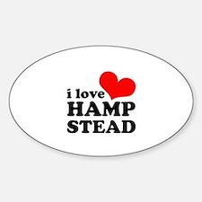 i love hampstead Sticker (Oval)