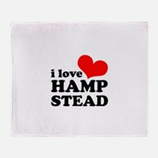 i love hampstead Throw Blanket