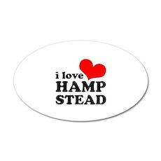 i love hampstead 22x14 Oval Wall Peel